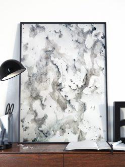 marble ink print