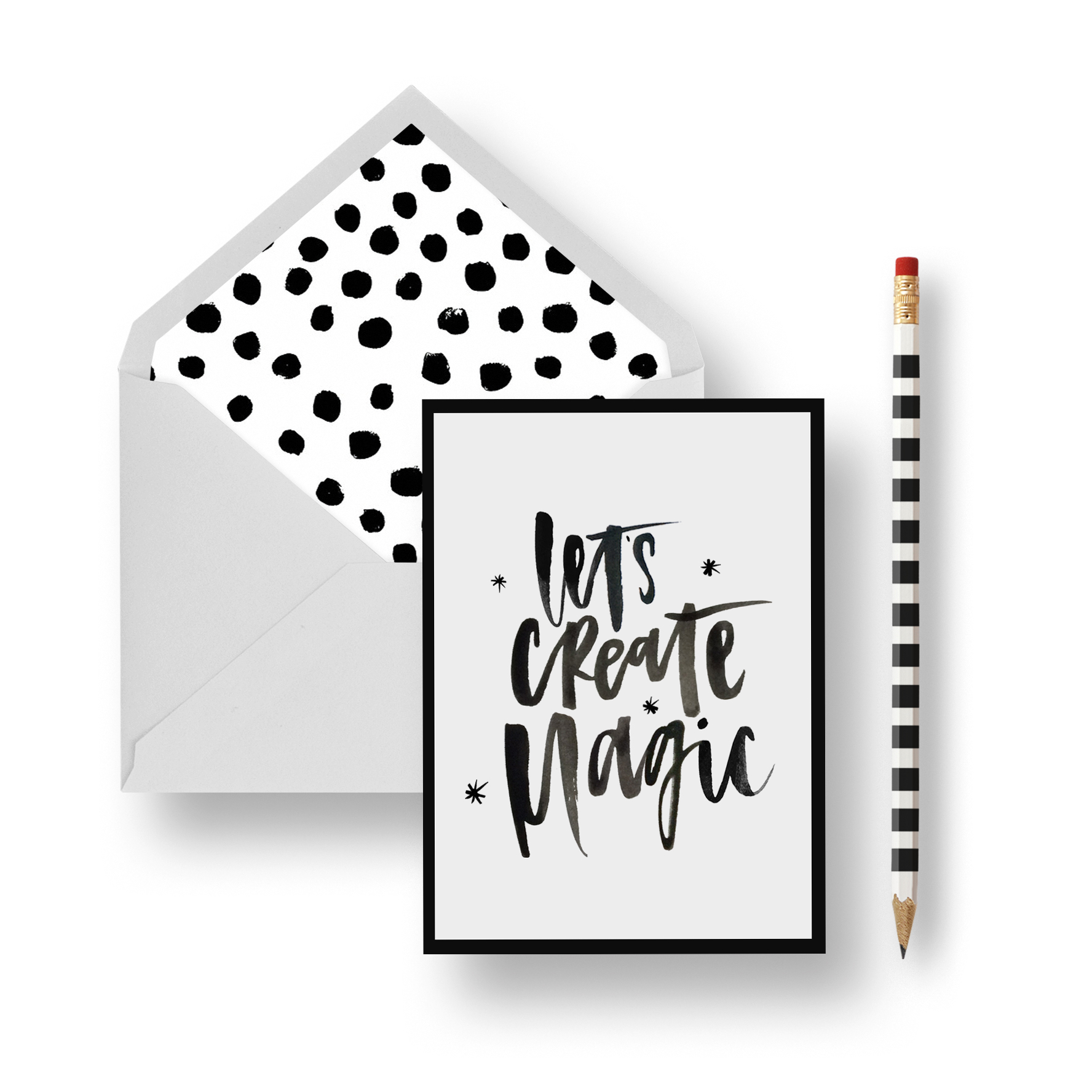 Let's Create Magic Stationery