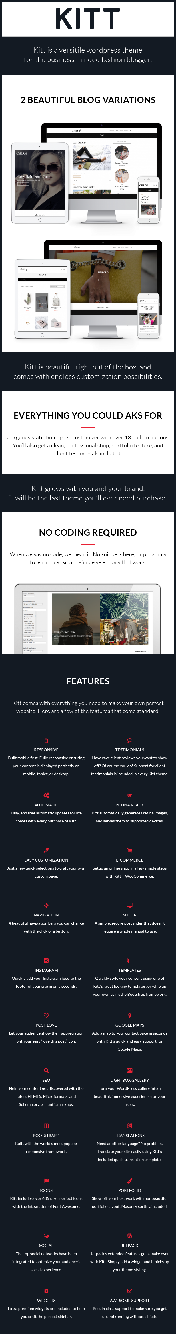 Kitt | Theme For Fashion Blogs
