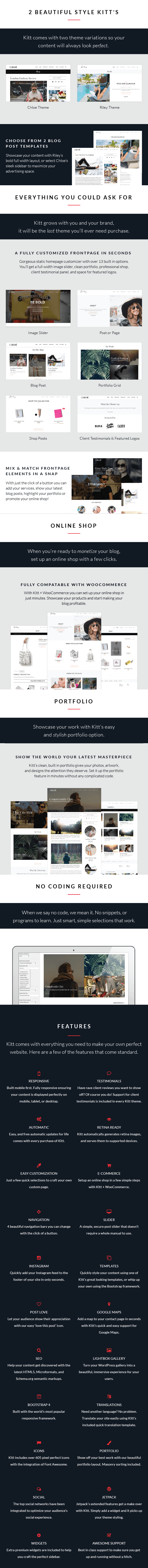 Kitt WordPress Theme For Fashion Blogs - Details