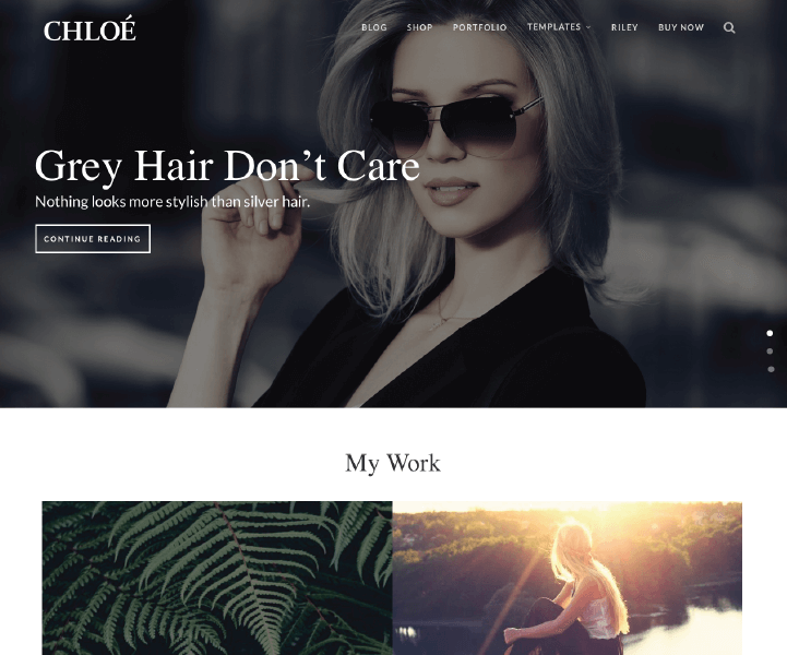Kitt WordPress Theme - Chloe Layout