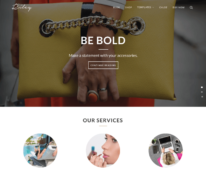 Kitt WordPress Theme, Riley Layout